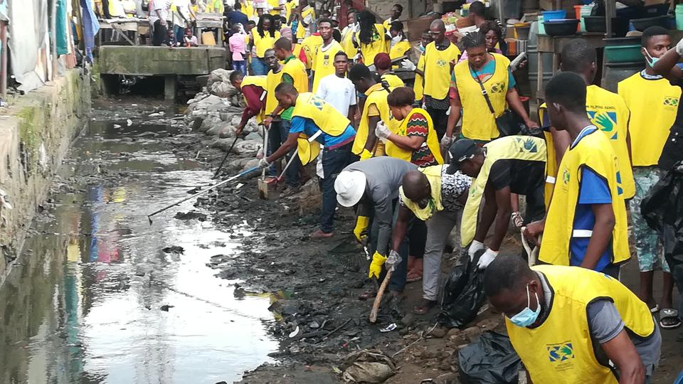 Image result for removing dirt from drainage in lagos